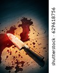 high contrast image of bloody... | Shutterstock . vector #629618756