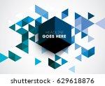 vector abstract geometric...   Shutterstock .eps vector #629618876