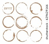 vector cup traces and spots... | Shutterstock .eps vector #629629166