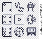 chance icons set. set of 9...   Shutterstock .eps vector #629631518