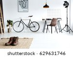 simple  white room with male... | Shutterstock . vector #629631746