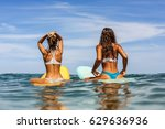 Two Beautiful Sporty Surfing...