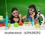 2 cute little indian girls... | Shutterstock . vector #629638292