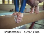 close up of female gymnast... | Shutterstock . vector #629641406