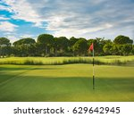 golf course during summer  | Shutterstock . vector #629642945