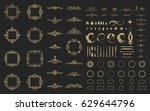 circle and square wicker... | Shutterstock .eps vector #629644796