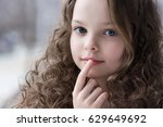 portrait of beautiful little... | Shutterstock . vector #629649692