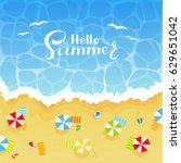 summer background with... | Shutterstock .eps vector #629651042