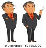 rich man | Shutterstock .eps vector #629663702