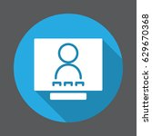 video conference flat icon.... | Shutterstock .eps vector #629670368