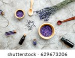essential oil and lavender salt ... | Shutterstock . vector #629673206