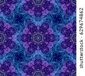 sacred geometry symbols in... | Shutterstock .eps vector #629674862