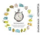 time management round design... | Shutterstock .eps vector #629680916