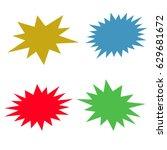 bursting speech star set ... | Shutterstock .eps vector #629681672