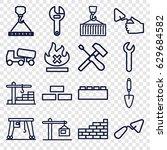 build icons set. set of 16... | Shutterstock .eps vector #629684582