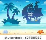 Pirate Vessel Silhouette Theme...