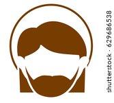 brown silhouette of faceless... | Shutterstock .eps vector #629686538