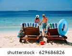 family beach vacation | Shutterstock . vector #629686826