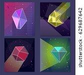 vector backgrounds set of neon... | Shutterstock .eps vector #629687642