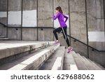 slim attractive sports women... | Shutterstock . vector #629688062