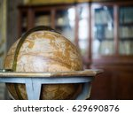 vintage globe in the library