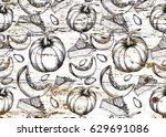 hand drawn pattern on grunge...   Shutterstock . vector #629691086