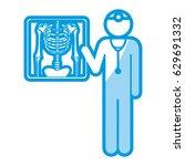 blue shading silhouette... | Shutterstock .eps vector #629691332