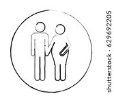 blurred circular frame... | Shutterstock .eps vector #629692205