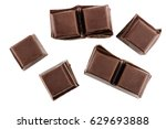 chocolate cubes  pieces of... | Shutterstock . vector #629693888