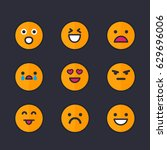 emoticons  emoji set | Shutterstock .eps vector #629696006