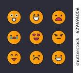 emoticons  emoji set | Shutterstock .eps vector #629696006