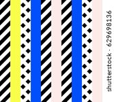 retro color tribal seamless... | Shutterstock . vector #629698136