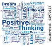 word cloud   positive thinking | Shutterstock .eps vector #62970535