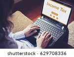 income tax declaration in a... | Shutterstock . vector #629708336