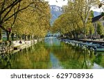 beautiful pont des amours ... | Shutterstock . vector #629708936