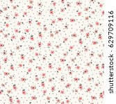 small flowers seamless pattern... | Shutterstock .eps vector #629709116