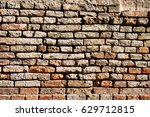 background of old vintage brick ... | Shutterstock . vector #629712815