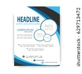 brochure template flyer design... | Shutterstock .eps vector #629713472