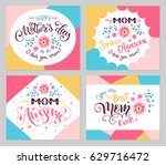 happy mother day greeting card... | Shutterstock .eps vector #629716472