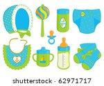 accessories for baby boy | Shutterstock .eps vector #62971717