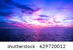 abstract sunset background in... | Shutterstock . vector #629720012