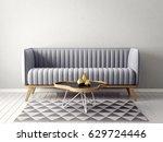 modern interior room with nice... | Shutterstock . vector #629724446