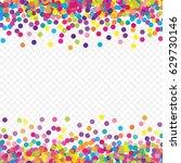 multicolored paper confetti on... | Shutterstock .eps vector #629730146