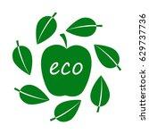 eco food  organic bio product... | Shutterstock .eps vector #629737736