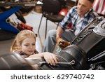 radiant brilliant girl reaching ...   Shutterstock . vector #629740742