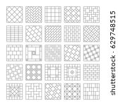 design ceramic tile and mosaic. ... | Shutterstock .eps vector #629748515