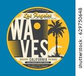 california dream surf... | Shutterstock .eps vector #629750648