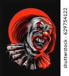 evil clown | Shutterstock .eps vector #629754122