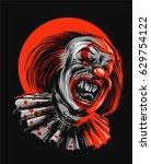 evil clown | Shutterstock .eps vector #629754122