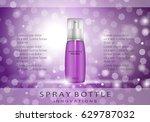 spray bottle isolated on purple ... | Shutterstock .eps vector #629787032
